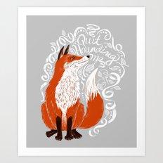 The Fox Says Art Print