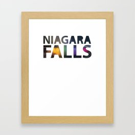 Niagara Falls Three Waterfalls Framed Art Print