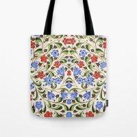 medieval Tote Bags featuring Medieval Floral by Diana Kryski