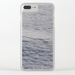 Sparkling Snow Clear iPhone Case