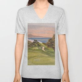 Torrey Pines South Golf Course Hole 6 Unisex V-Neck