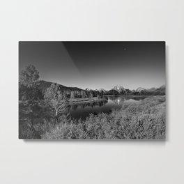 Snake River toward Mount Moran Metal Print