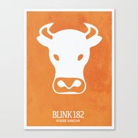blink 182 Canvas Prints featuring Blink-182 'Dude Ranch' Poster by 6B Artwork