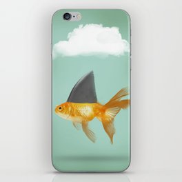 Goldfish with a Shark Fin (under a cloud) iPhone Skin