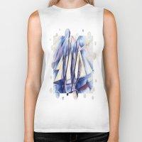 sail Biker Tanks featuring Sail Movements by taiche