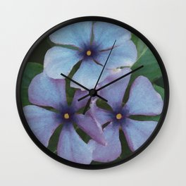 Blue Periwinkles - British Wildflowers Wall Clock