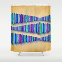 origami Shower Curtains featuring Origami by DebS Digs Photo Art
