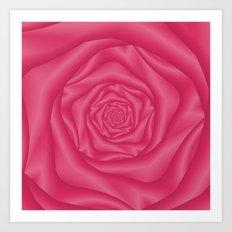 Spiral Rose in Pink Art Print