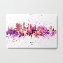Milan Italy Skyline Metal Print