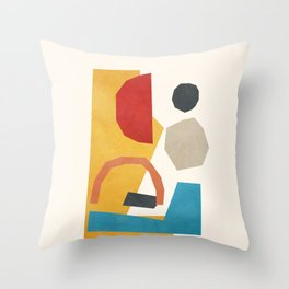 Abstract Stacked Geometry 5 Throw Pillow