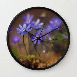Blue liverworts Wall Clock