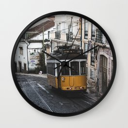 Yellow Tram Wall Clock