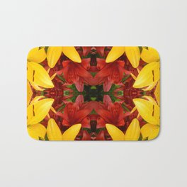 """A Gathering of Lilies"" Remix - 4 (2-1) [D4469~57] Bath Mat"