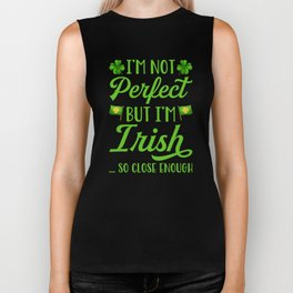 I'm Not Perfect But I'm Irish Biker Tank