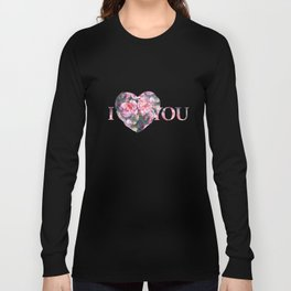 Pink floral pattern Long Sleeve T-shirt