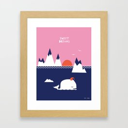 Little Whale Framed Art Print