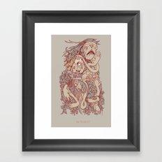 King of the pile Framed Art Print