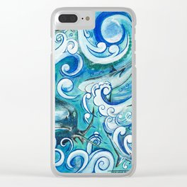 Shark wave Clear iPhone Case