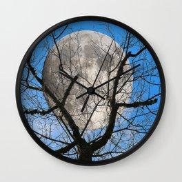 Evening moon Wall Clock