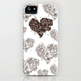 heart map iPhone Case