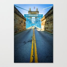 Road to the John A. Roebling Bridge - Cincinnati Ohio Canvas Print