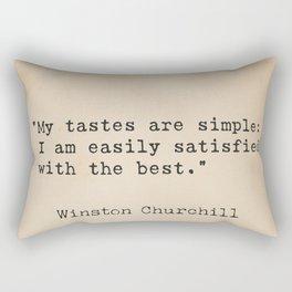 Winston S. Churchill 25 quote Rectangular Pillow
