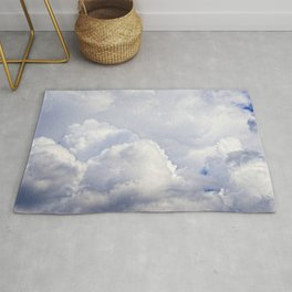 White And Grey Clouds In The Sky Rug