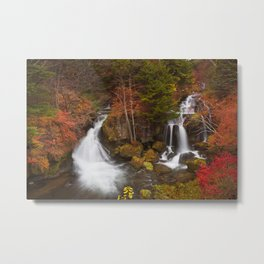 Ryuzu Falls near Nikko, Japan in autumn Metal Print
