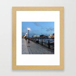 Albert Dock At Dusk Framed Art Print