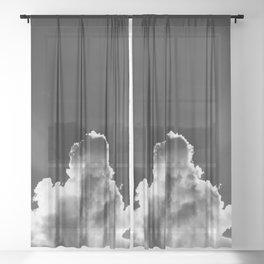 Black Cloud Sheer Curtain