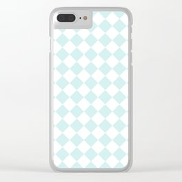 Diamonds - White and Light Cyan Clear iPhone Case