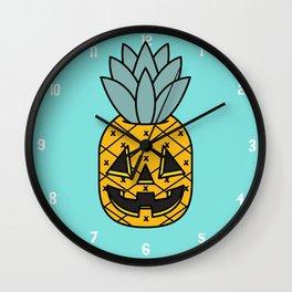 Pineapple Lantern Wall Clock