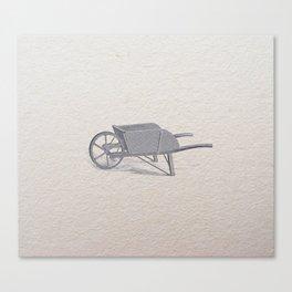 Wheel barrow Canvas Print