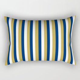 Team Colors 4... GOLD,NAVY, AND WHITE Rectangular Pillow