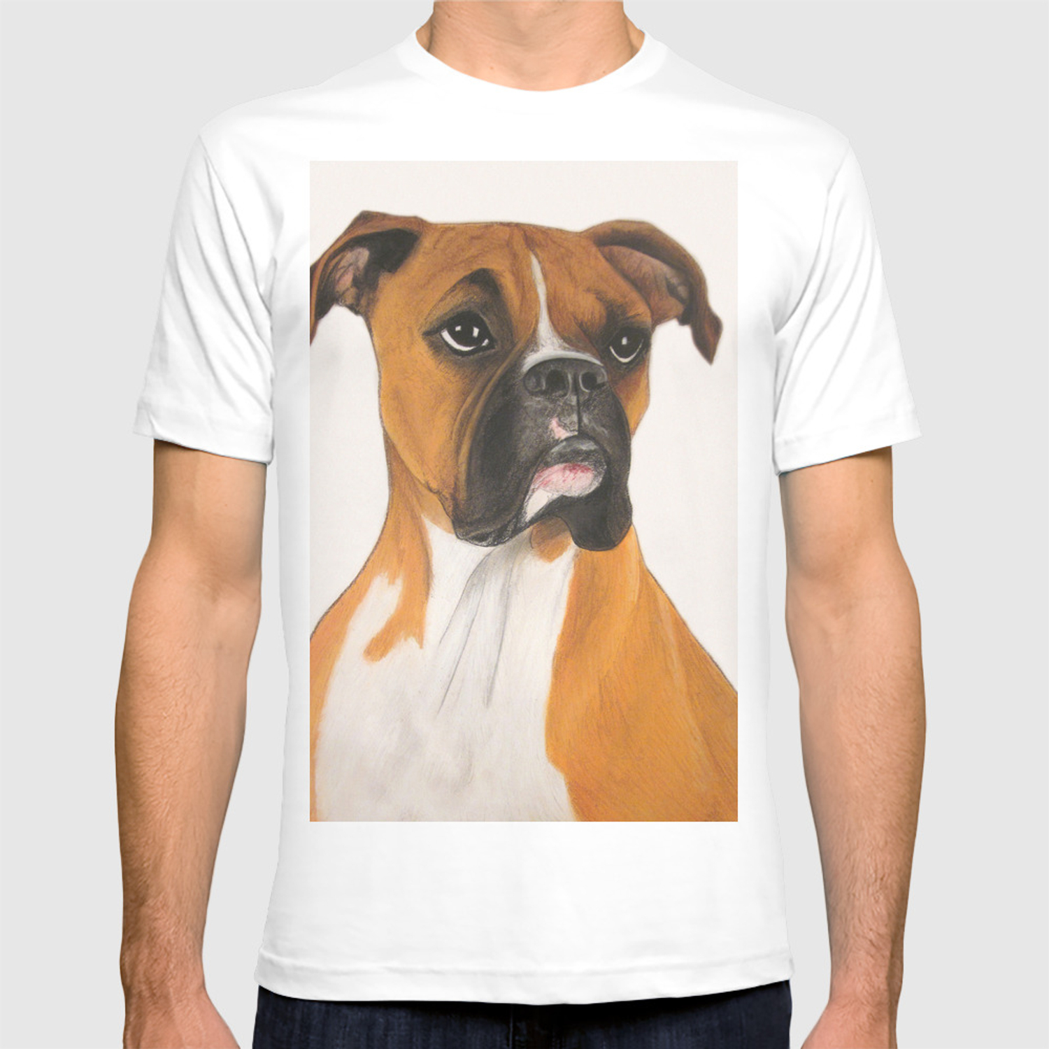 Buster Boxer Dog T Shirt By