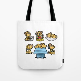 WHAT MAKES ME HAPPY Dog Dogs Doggie Tote Bag