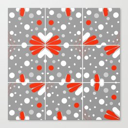 Snowflake red Canvas Print