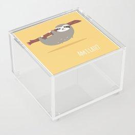Sloth card - Am I late? Acrylic Box