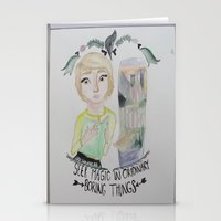 fangirl Stationery Cards featuring fangirl by Majelle Legros