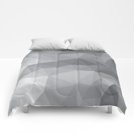 Gray Polygon Background Comforters