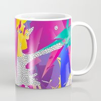 80s Mugs featuring 80s Abstract by Danny Ivan