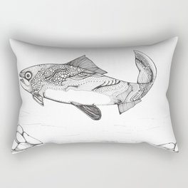 Another Day In The River Rectangular Pillow