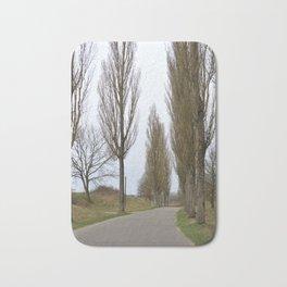 road and trees 1 colour Bath Mat