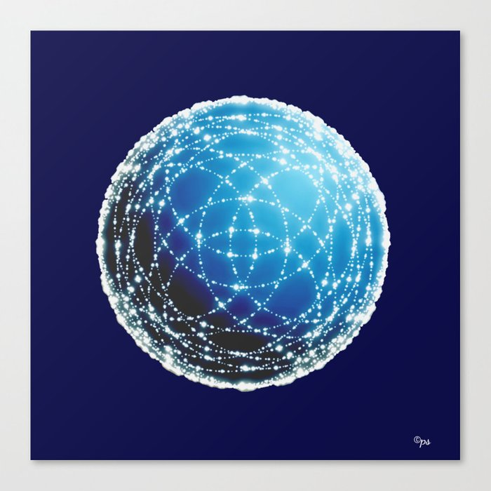 The Blue Orb Canvas Print