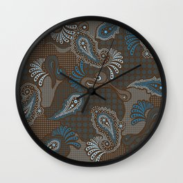 paisley DECO syndrone Wall Clock