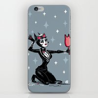 catwoman iPhone & iPod Skins featuring Catwoman by ZoeStanleyArts