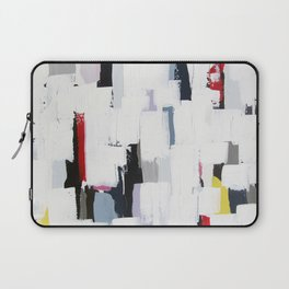 "No. 31 - Print of Original Acrylic Painting on canvas - 16"" x 20"" - (White and multi-color) Laptop Sleeve"