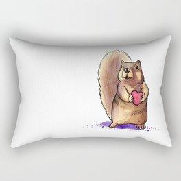 Squirrel Loves You Rectangular Pillow