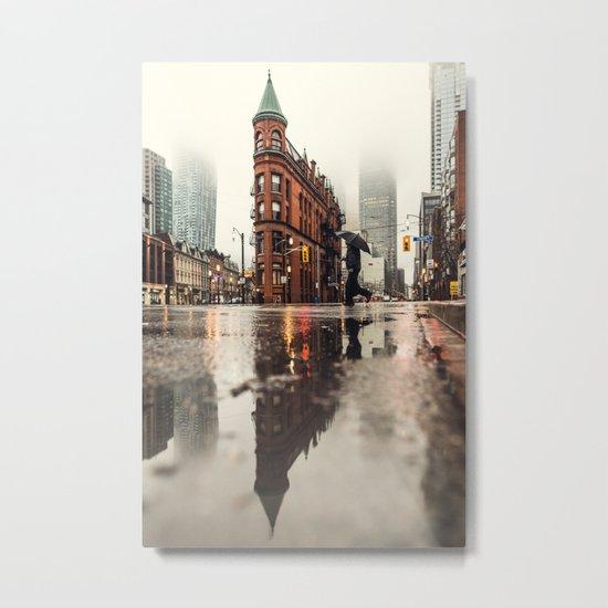 RAIN - WET - MAN - LIGHT - STREET - PHOTOGRAPHY Metal Print