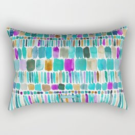DASHED Colorful Tribal Watercolor Rectangular Pillow